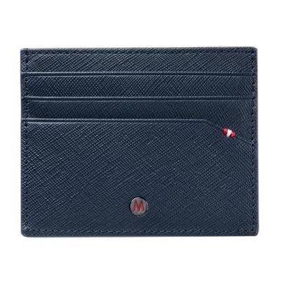 MONDAINE 瑞士國鐵 牛皮6卡卡夾 – 藍