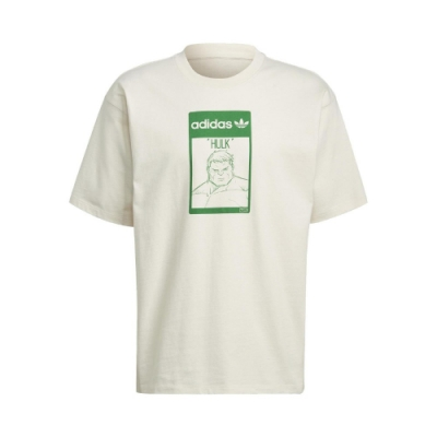 adidas T恤 Original Tee Hulk 男女款 愛迪達 三葉草 綠巨人浩克 圓領 棉質 淺褐 綠 GP3398