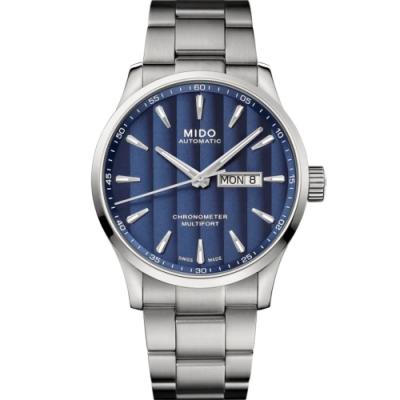 MIDO 美度 MULTIFORT先鋒80系列 天文台腕錶-藍42mm