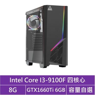 華碩B365平台[曜日戰神]i3四核GTX1660Ti獨顯電腦