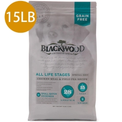 Blackwood柏萊富-無穀全齡低敏純淨配方(雞肉+豌豆)15LB