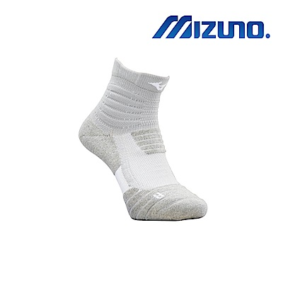 MIZUNO 男運動厚底短襪 5入 灰 32TX920307