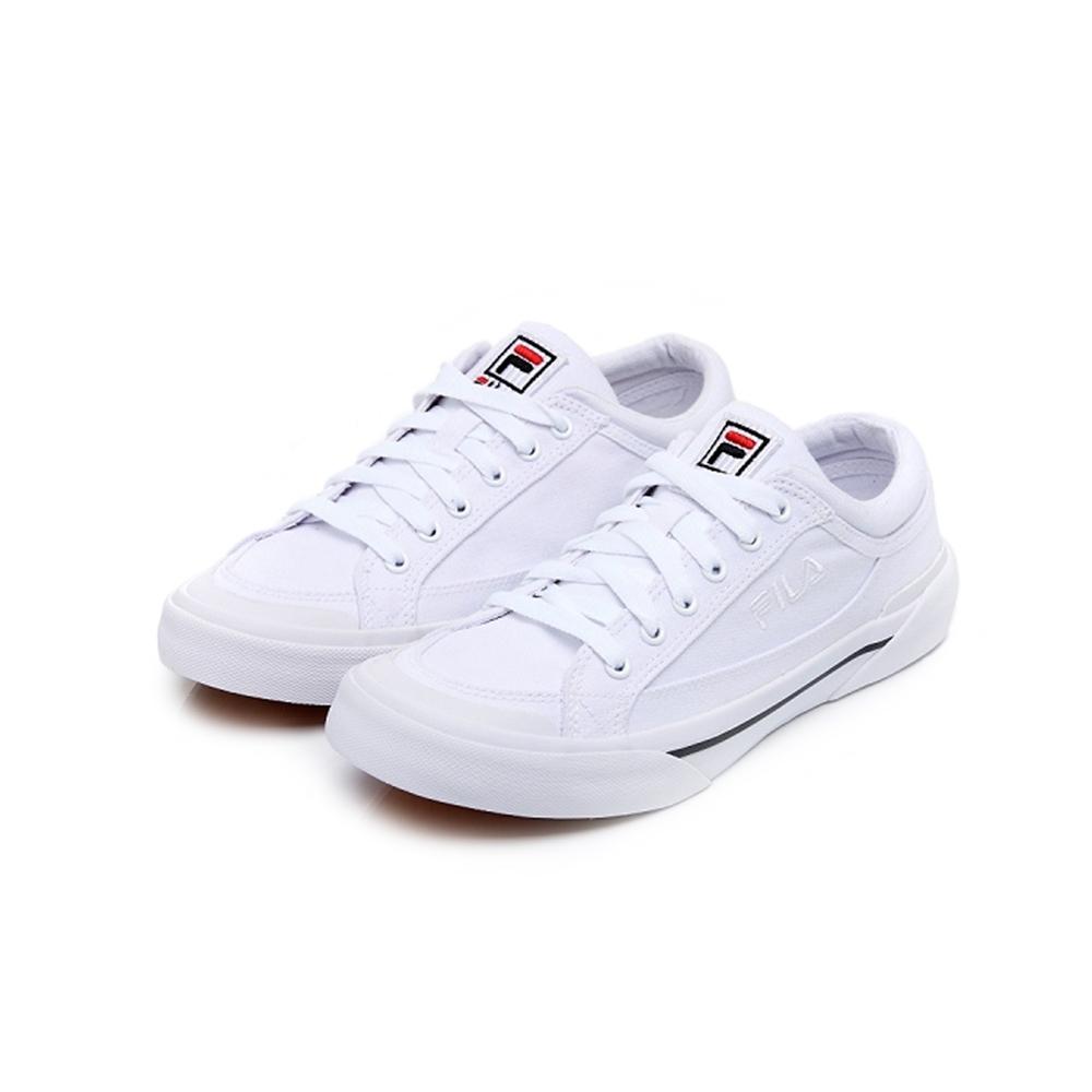 FILA MILK CRATE 中性帆布鞋-白 4-C618U-100
