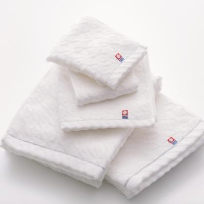 日本派迪 今治飯店用千鳥紋100%綿純白浴巾