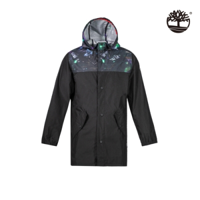 Timberland 男款科技黑連帽風衣|A2ASG