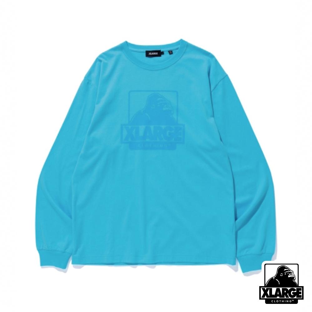 XLARGE L/S TEE OG長袖T恤-藍