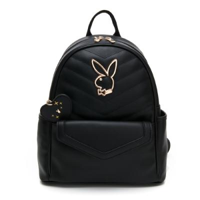 PLAYBOY-  後背包 摩登小兔系列 -黑色