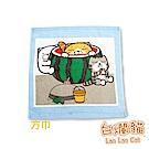 白爛貓Lan Lan Cat 臭跩貓滿版印花方巾(西瓜-夏日沙灘)
