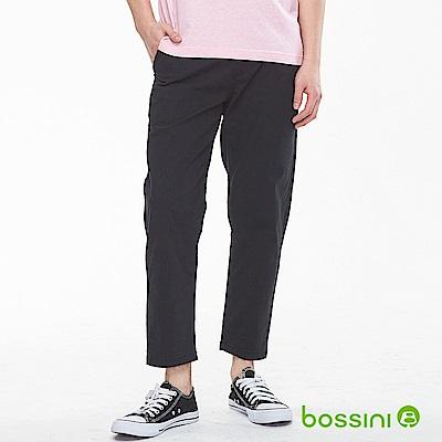 bossini男裝-及踝9分褲01黑