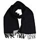 LONGCHAMP 蘇格蘭製品牌字母刺繡LOGO混喀什米爾羊毛圍巾/披肩(5色)