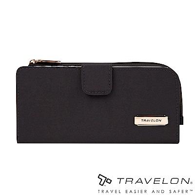 Travelon美國防盜包 RFID BLOCKING拉鍊長夾TL1-43397-19黑