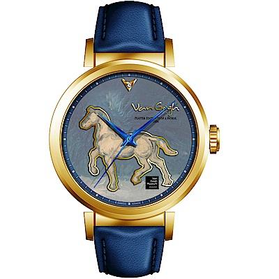 梵谷Van Gogh Swiss Watch梵谷經典名畫女錶(I-GLLH-07)-標誌馬