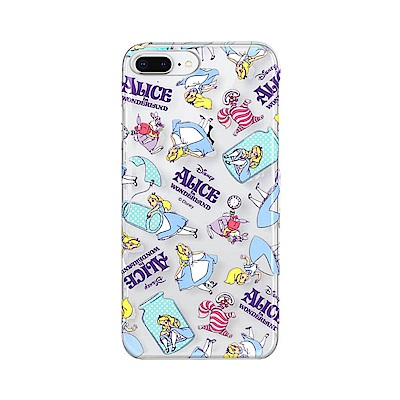 iPhone 8/7 Plus 海外限定 迪士尼 透明彩繪 硬殼 5.5吋-愛麗...