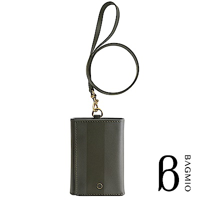 BAGMIO authentic 系列牛皮4卡三折式短夾-橄欖綠(附皮背帶)