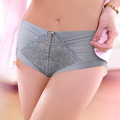 黛安芬-FLORALE 璀璨薔薇系列高腰內褲 M-EEL 氣質灰