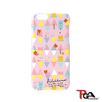 【日本 PGA】iPhone6/6S San-X 透明塗鴉 手機硬殼 - 粉紅繽紛拉拉熊