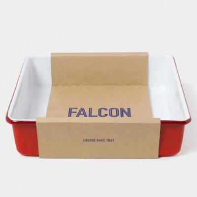 英國Falcon 獵鷹琺瑯 琺瑯2合1烤盤 紅白