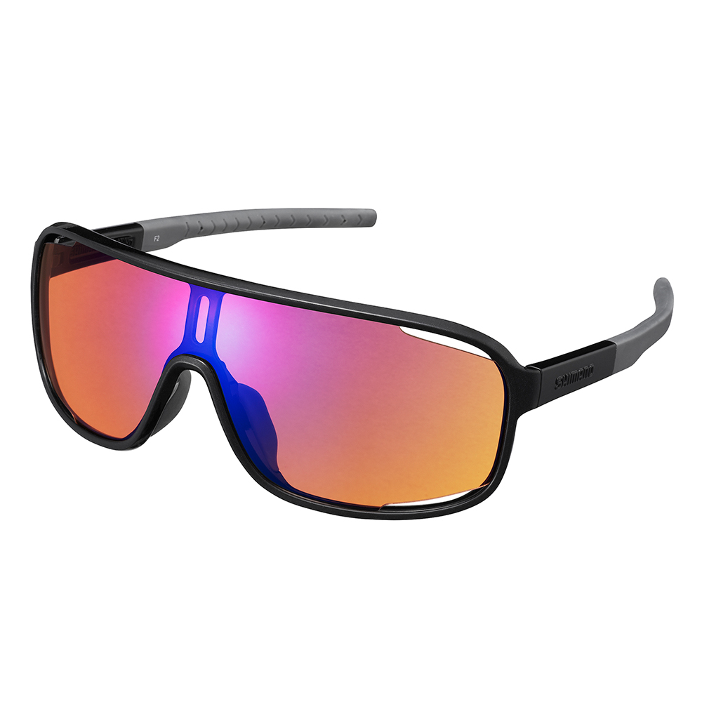 【SHIMANO】TECHNIUM 太陽眼鏡 金屬黑色鏡框(藍橘色煙燻鏡面鏡片 附一備片)