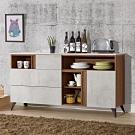 D&T 德泰傢俱 DINO清水模風格5.3尺石面餐櫃-160x41x84cm