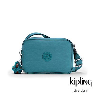 Kipling 靜謐藍綠色側背方包-DEE