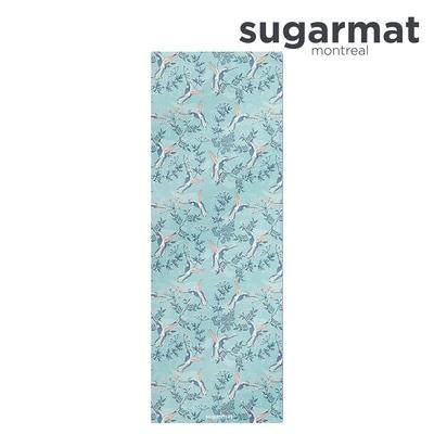 加拿大Sugarmat 麂皮絨天然橡膠加寬瑜珈墊(3.0mm) 蜂鳥飛舞 Humming Suede
