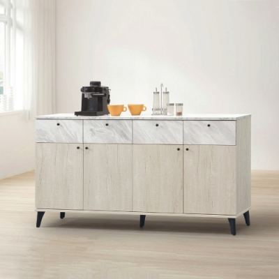 MUNA 白橡色5尺餐櫃/碗盤櫃(下座)(B203)  150X40X82cm