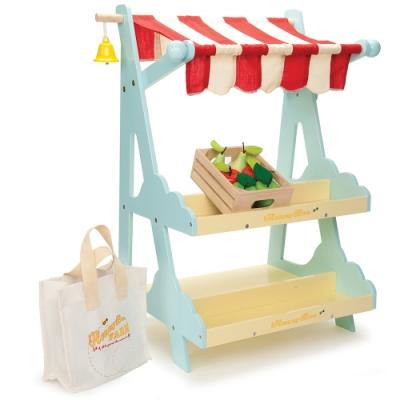 英國 Le Toy Van 角色扮演系列 - 市集攤位大型木質玩具組 (TV181)