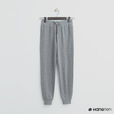 Hang Ten - 女裝 - 抽繩純色休閒縮口褲 - 灰