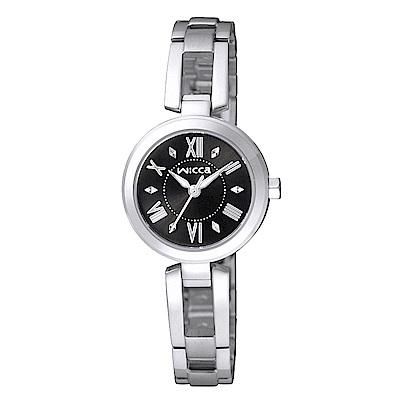 CITIZEN WICCA質感晶鑽手錶(BG3-911-51)-黑X銀/24mm