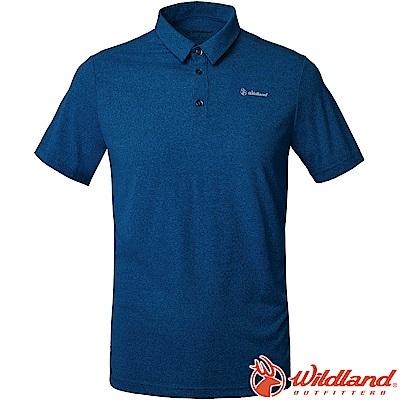 Wildland 荒野 P1606-46土耳其藍 男POLARTEC排汗POLO衫