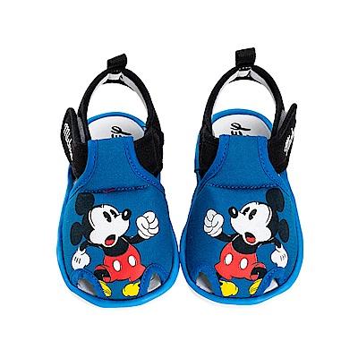 迪士尼童鞋 米奇 寶寶護趾嗶嗶涼鞋-藍