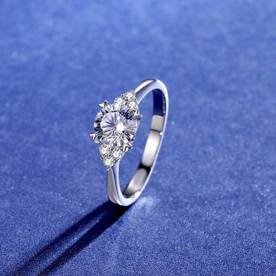 米蘭精品 莫桑鑽戒指925純銀銀飾-1克拉復古巴洛克鏤空情人節生日禮物女飾品73yk93