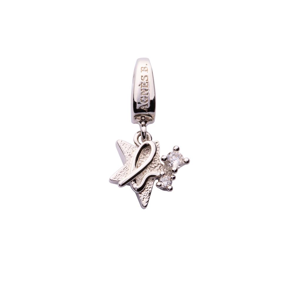 agnes b. b. Breloques 星星b.logo串飾(銀)