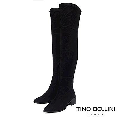 Tino Bellini 經典原色中跟過膝長靴 _ 黑