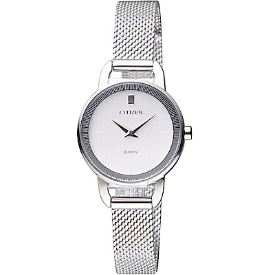 CITIZEN星辰極簡雅緻時尚女錶(EZ7000-50A)-銀