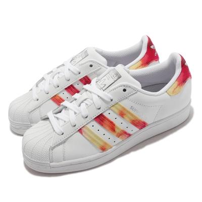adidas 休閒鞋 Superstar W 運動 女鞋 海外限定 愛迪達 貝殼頭 舒適 穿搭 白 紅 FY7250