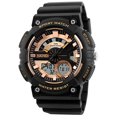 SKMEI 時刻美1235-雙機芯多功能防震防水電子錶(3色任選)