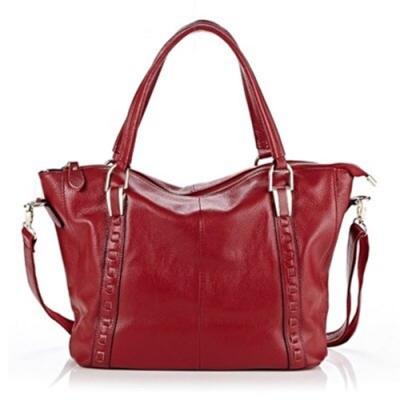 米蘭精品 手提包真皮肩背包-大容量百搭OL牛皮女包情人節生日禮物73ed16