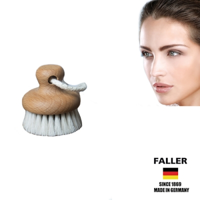 FALLER芙樂德國製圓形馬毛深層臉部潔顏刷(一入)