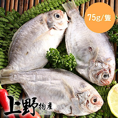 【上野物產】越南野生肉魚 (75g土10%/隻) x40隻