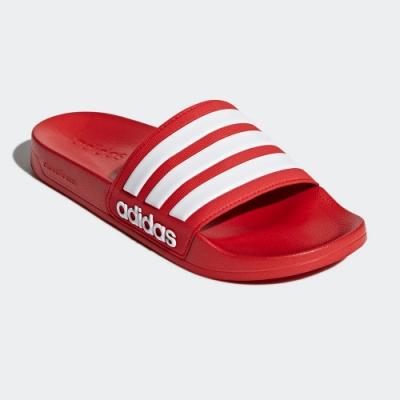 adidas 拖鞋 男女鞋 休閒 運動拖鞋 游泳 ADILETTE SHOWER SLIDES 紅 AQ1705