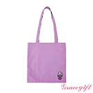 Disney collection by gracegift烏蘇拉電繡圖案帆布袋 紫