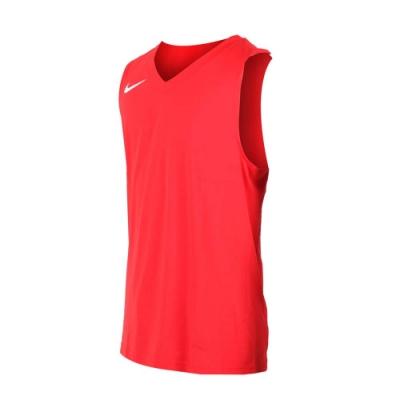 NIKE 男運動背心-針織 籃球背心 慢跑 路跑 紅白