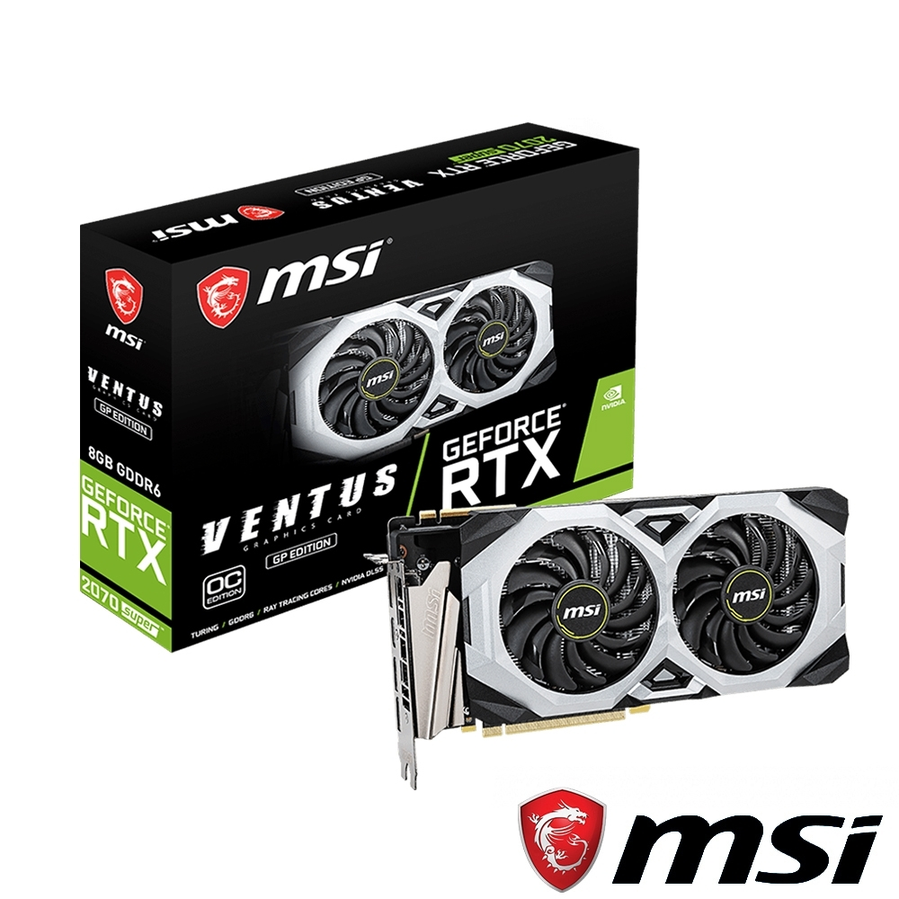 MSI微星 GeForce RTX 2070 SUPER VENTUS GP OC 顯示卡