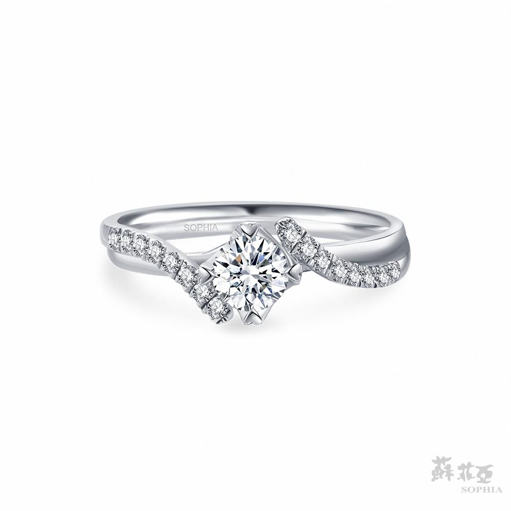 SOPHIA 蘇菲亞珠寶 - 葛莉絲 30分 18K白金 鑽石戒指