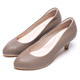 DIANA知性簡約閃電壓紋質感真皮跟鞋-漫步雲端輕盈美人款-可可 product thumbnail 1