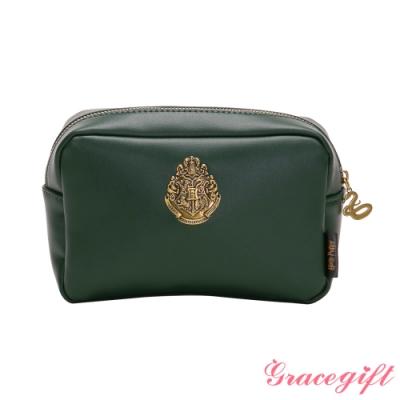 Grace gift-哈利波特史萊哲林徽章化妝包 綠