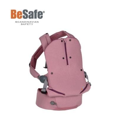 BeSafe Haven輕量秒充氣墊腰凳式嬰幼兒揹帶- Leaf晨曦粉