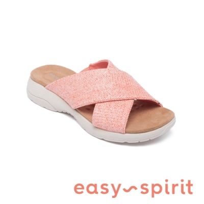Easy Spirit-seTAITE2 舒適亮彩休閒涼拖鞋-粉嫩橘
