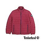 Timberland 男款紅色橫紋修身短款棉外套 | A1W6JH20